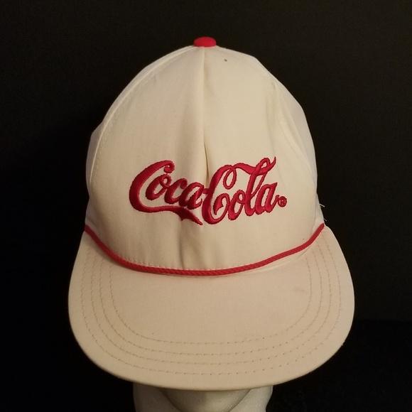Coca Cola Other - Vintage White Red Coca Cola Snapback Hat Cap b7ca42aefa3e